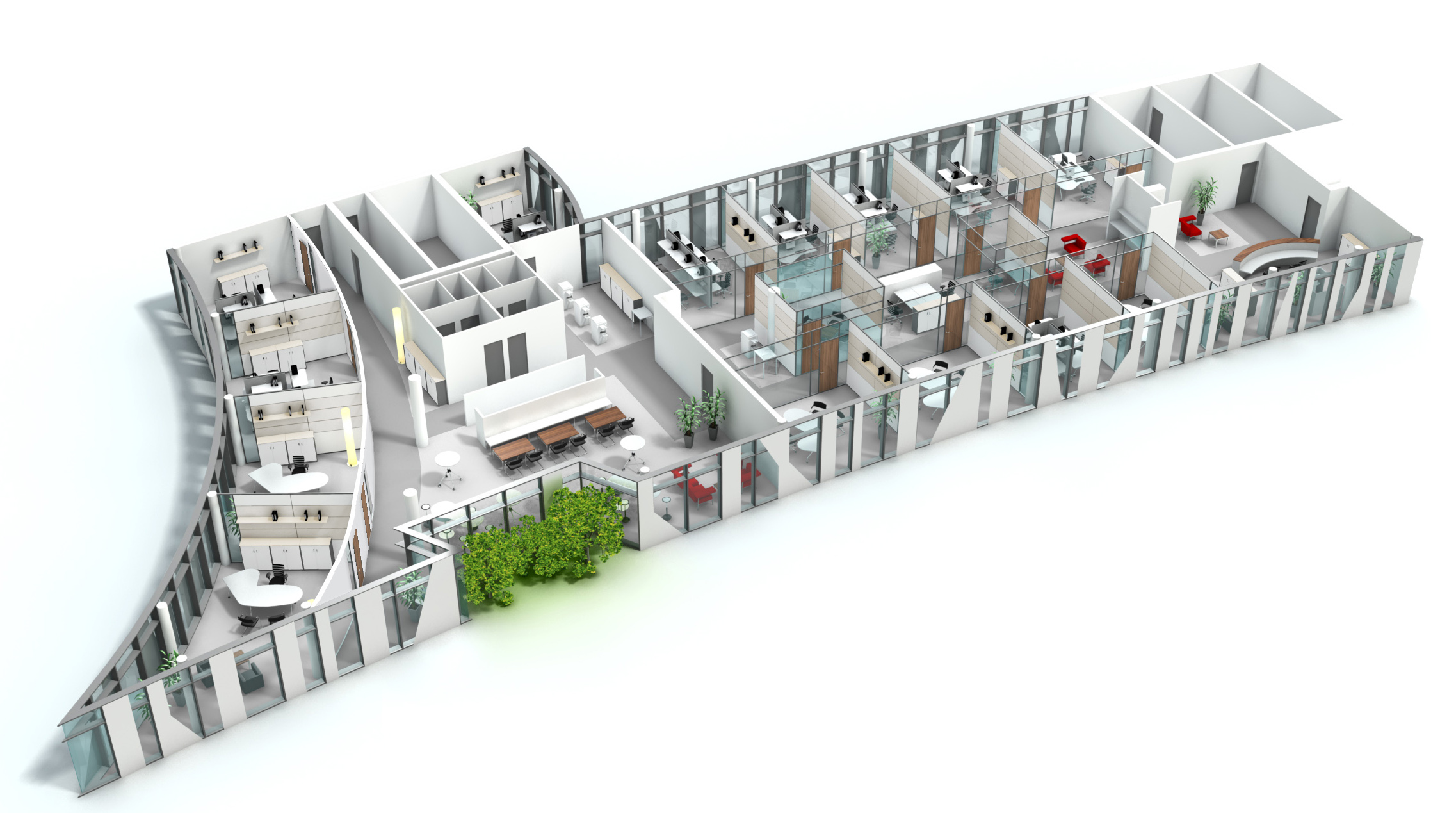 moderne burokonzepte grundriss, der flurfunk, Design ideen