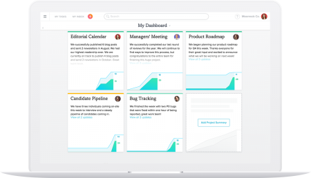 Asana Project Dashboard (Quelle: Asana)